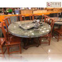厂家直销天然玉石九龙壁酒店用古典风格圆桌,2014年新品上市