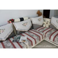 月季棉麻加厚雪尼尔 布艺沙发多用巾 沙发垫子 飘窗垫 飘窗巾