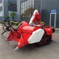 新款德鑫LS-160型小型履带水稻联合收割机 自动装袋旱稻小型联合收割机