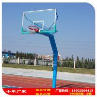 中山市哪家篮球架生产厂家好 柏克埋地式篮球架 搭配透明玻璃篮板