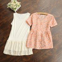 批发供应 新品 日系 碎花雪纺娃娃衫背心裙两件套连衣裙 A34L46