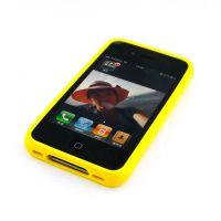 供应苹果 iPhone 4 4S保护壳 手机壳黄色 4代 保护套 黄色手机外壳