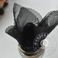 【批发丝巾口布】广州工厂供应 黑色 酒店西餐厅布草 桌布 餐巾