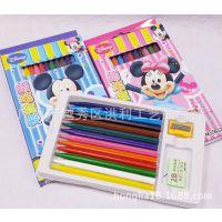 迪士尼可爱蜡笔 12色蜡笔套装 学生绘图工具 儿童奖品礼品