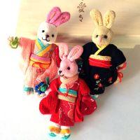 和风布艺手机挂件 AM-2笑梦琉和服兔子手机挂件手机链包包挂件
