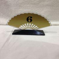 餐桌号码牌数字牌 台号牌桌牌 座位牌 扇形 半球形桌号牌