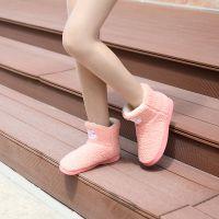 超可爱软绵绵羊羔绒羊驼家居棉靴 冬季保暖地板棉鞋