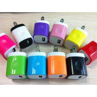 供应彩色手指印5V1000MA智能手机充电器,双色壳美规贝尔金5W手机电源转换适配器