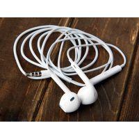 手机立体声耳机 apple手机带麦克风线控耳机 蓝网耳机