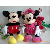 迪士尼米奇米妮正品 米老鼠 情侣米奇毛绒玩具公仔