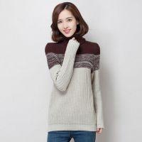 2014新款韩版高领毛衣女针织衫 秋冬加厚中长款打底衫女
