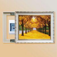 有框画 装饰画电表箱推拉画遮挡墙壁客厅卧室玄关画黄金大道油画