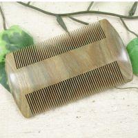 鸿福檀木梳子批发 厂家直销正宗绿檀木梳子 精美雕花木梳a56