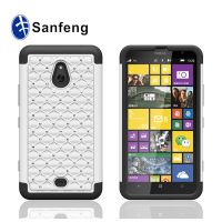 二合一手机壳 诺基亚1320点钻手机保护壳 硅胶+pc满天星手机套