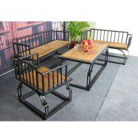 美式餐桌椅组合 清新铁艺咖啡厅桌椅组合 创意客厅桌椅简洁家具