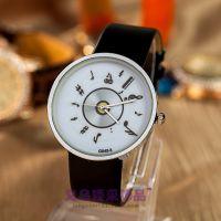 手表直销欧美萨克斯小号音符多款男女手表 时尚风格PU皮质手表