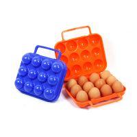 批发 户外专用12格鸡蛋盒 袋手提便携式鸡蛋保护盒全新无污染PP料
