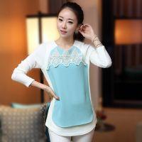 韩国东大门秋季新款牛奶丝打底衫女长袖款 韩版上衣女雪纺衫