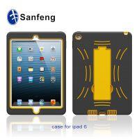 热销苹果外壳 iPad6保护套 二合一手机套机器人支架硅胶保护套