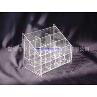 透明有机玻璃展示架,亚克力分格展示架,深圳亚克力加工制作