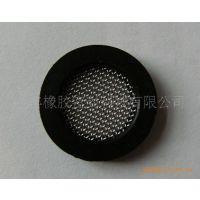 供应4分管过滤网垫圈 NBR丁腈胶包304不锈钢网垫片
