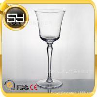 厂家批发 无铅水晶玻璃高脚红酒杯 可订制 人工吹制红酒玻璃杯