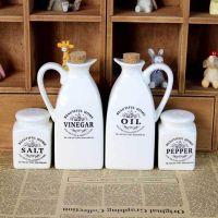 欧式 经典 陶瓷 调味瓶罐四件套装 油壶 厨房餐桌套装