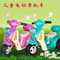 群兴7397儿童电动摩托车 宝宝电动三轮车机智警车 可坐小孩