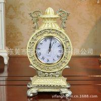 创意楼兰时钟艺术复古座钟欧式家居钟表特色摆件工艺品非闹钟
