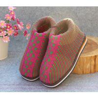 冬季专供双层保暖毛线棉鞋手工老棉鞋