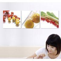 餐厅装饰画单幅 客厅现代简约无框画 墙画挂画壁画版画 餐具水果