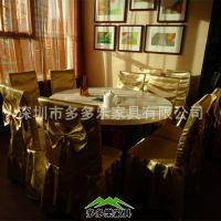 火锅桌餐桌椅子家具厂家直销餐厅酒店中式大理石圆形电磁炉火锅桌