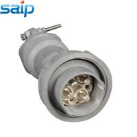 赛普直销SP4021大电流铝外壳工业插头 三相四线250A防水工业插头