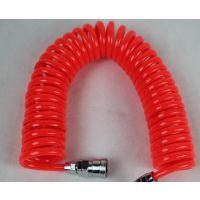 PU8*5-15米红色螺旋气管,弹簧管,气制动软管 带塑料护套