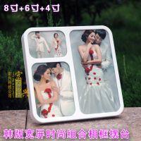 宽屏大韩相框 水晶韩式相架 韩版摆台 婚纱照片相框家居艺术摆件