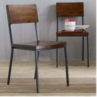 欧诚铁艺实木吧台椅子 防锈客厅餐椅 办公靠背椅子 休闲椅