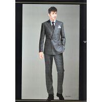 供应琪诺职业正装西服套装男士西装男修身装