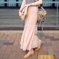 2014夏季新款韩版修身显瘦高腰鱼尾裙莫代尔雪纺包臀半身长裙