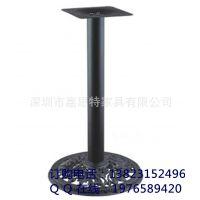 厂家供应铸铁圆形餐桌底座 专业餐厅桌脚台架 底盘