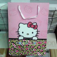 粉色helloKitty手提纸袋  精美手提袋礼品袋 热销超市KT猫手提袋