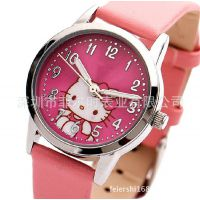 Hello Kitty儿童手表 皮带女童卡通表 夜光防水女表 小学生手表
