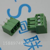 绿色接线端子 15EDG-3P 间距3.5MM直针 3位直针 插板式公母对插