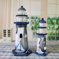 新款地中海风格 灯塔 隔板摆件 现代简约 家居装饰工艺船 高款