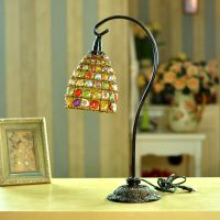时光创意家居尼泊尔风格 手工串珠灯饰 欧式台灯 书房卧室灯具