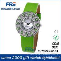 孔雀镶钻皮带表 外贸欧美速卖通厂家直销定制 钻石女士时装手表