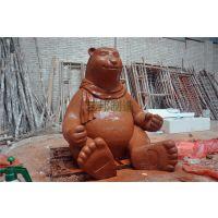 北极熊,卡通熊泥塑,围巾熊,白熊雕塑