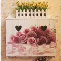 木质玫瑰花电表箱遮挡箱电闸箱空开箱装饰遮挡田园壁挂墙壁装饰大