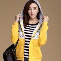 韩版秋季女装 学生加厚保暖款 大码女卫衣开衫外套 淘宝热卖