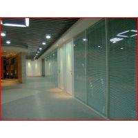 玻璃百叶隔断 双层钢化玻璃间夹百叶 办公室百叶玻璃隔断