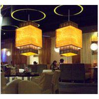 中式简约仿古过道吊灯 古典餐厅酒楼茶楼仿羊皮灯笼 新中式灯具灯饰